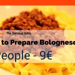 How to prepare Bolognese – 4 people – 9€