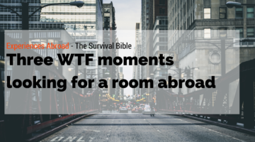 Three WTF moments looking for a room abroad.